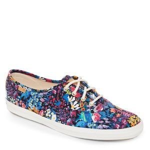 Keds Blue Multi Champion Liberty Floral Sneakers